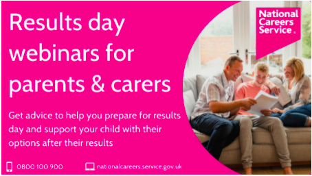 Results day webinars for parents and carers